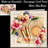 Make-up Essentials - Decoupage Card Front