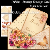 Dahlias - Stand-up Envelope Card
