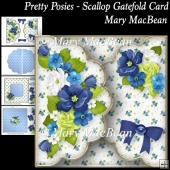 Pretty Posies - Scallop Gatefold Card