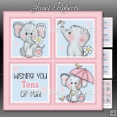 Ella Birthday Squares Mini Kit