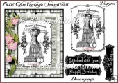 Paris Chic Seamstress Card Topper & Digital Stamp Decoupage