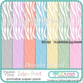 Zebra Print Pastel Tone Printable Papers