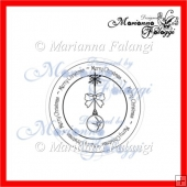 Merry Christmas Circle sentiment Digital stamp
