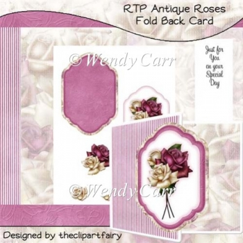 RTP Antique Roses Square Fold Back Card(Retiring in August)