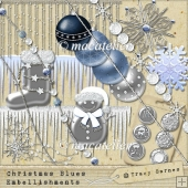 Christmas Blues Embellishments