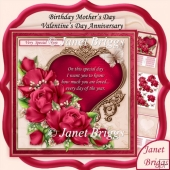 You Are Loved Pink Roses Verse 8x8 All Occasions Kit