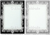 2 x A5 Black & Grey Lace Frames for Card Making & Scrapbooking