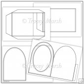 Commercial Use Arched Pillow Card Template Set