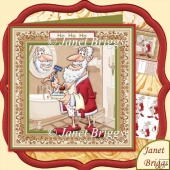 Dressing Up as Santa Christmas Decoupage Kit for Men