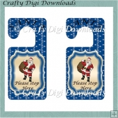 Blue Santa Door Hanger