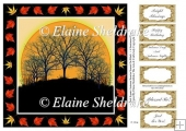 "Autumn Sunrise - 8"" x 8"" Card Topper With Assorted Greetings"