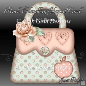 Peach Handbag Shaped Card Mini Kit