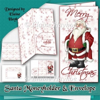 Santa Moneyholder and Envelope