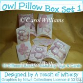 Owl Pillow Box - Set 1