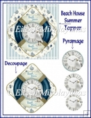 Beach House Summer Topper with Decoupage & Pyramage
