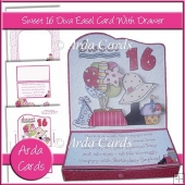 Sweet 16 Diva Easel Card With Drawer
