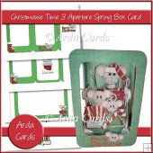 Christmouse Time 3 Aperture Spring Box Card