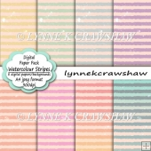 WATERCOLOUR STRIPES A4 Digital Paper Pack
