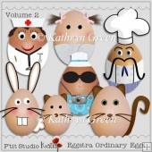 Fun Eggstra - Ordinary Eggs for Cards and Crafts