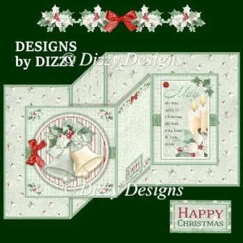 Christmas Bells Double Z Fold Card
