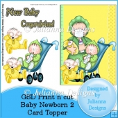 GSD PNC Baby Newborn 2 Card Front/Topper Cutting File