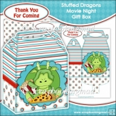 Stuffed Dragons Movie Night Gift Box