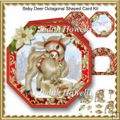 Baby Deer Octagonal Shaped Card Kit
