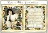 Lady in White Card Insert