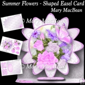 Summer Flowers - Shaped Easel Card