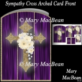 Sympathy Cross Arched Card Front
