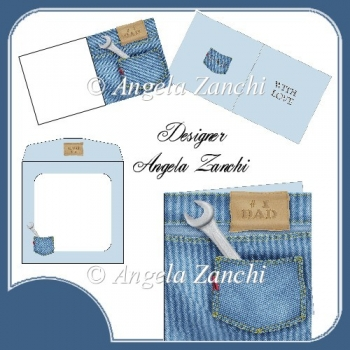 DAD DENIM POCKET 6X6 CARD