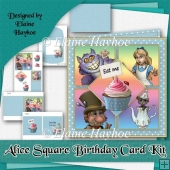 Alice Square Birthday Card Kit