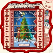 DECORATING THE CHRISTMAS TREE 7.5 Quick Card Kit Create Any Name