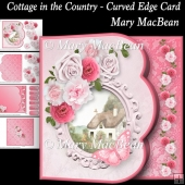 Cottage in the Country - Curved Edge Card