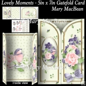 Lovely Moments - 5in x 7in Gatefold Card