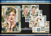 Art Deco Lady Emilia 4 Sheet Mini Kit Blue