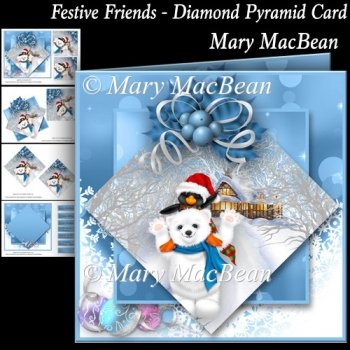 Festive Friends - Diamond Pyramid Card