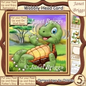 PUT YOUR FEET UP TORTOISE WOBBLY HEAD CARD 7.5 Decoupage Kit