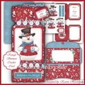 Kringlesnowman Cracker Card