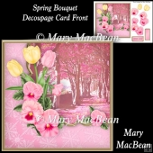 Spring Bouquet Decoupage Card Front
