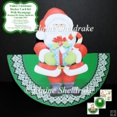 "Father Christmas - 7"" x 7"" Rocker Card Kit With Decoupage"