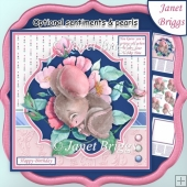 HAPPY HOUR IS NAP TIME Mouse 7.5 Decoupage & Insert Mini Kit