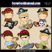 Oscar The Pirate ClipArt Collection