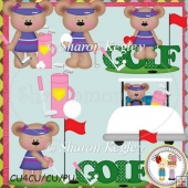 Golf Bear Girls Designer Resource Graphic