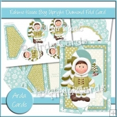 Eskimo Kisses Boy Upright Diamond Fold Card