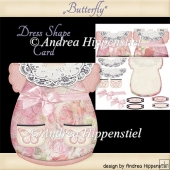 Dress Shape Card Butterfly