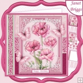 PINK POPPIES All Occasions 7.5 Decoupage & Insert Mini Kit