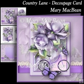 Country Lane - Decoupage Card