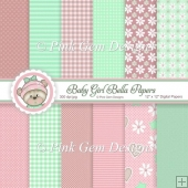 Baby Girl Bella Paper Set - 12 Sheets