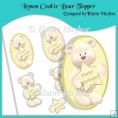 Lemon Cookie Bear Topper with Decoupage